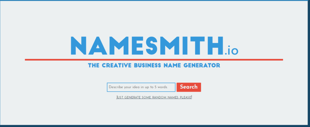 New Company Name Suggestions Free Namesmith